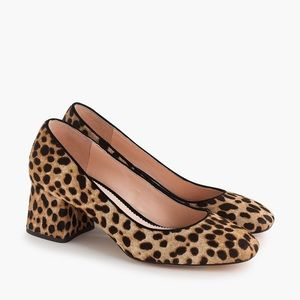 J. Crew | Block Heel Leopard Animal Print Pumps